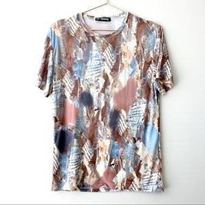 GF Ferre Abstract Print Words Tee